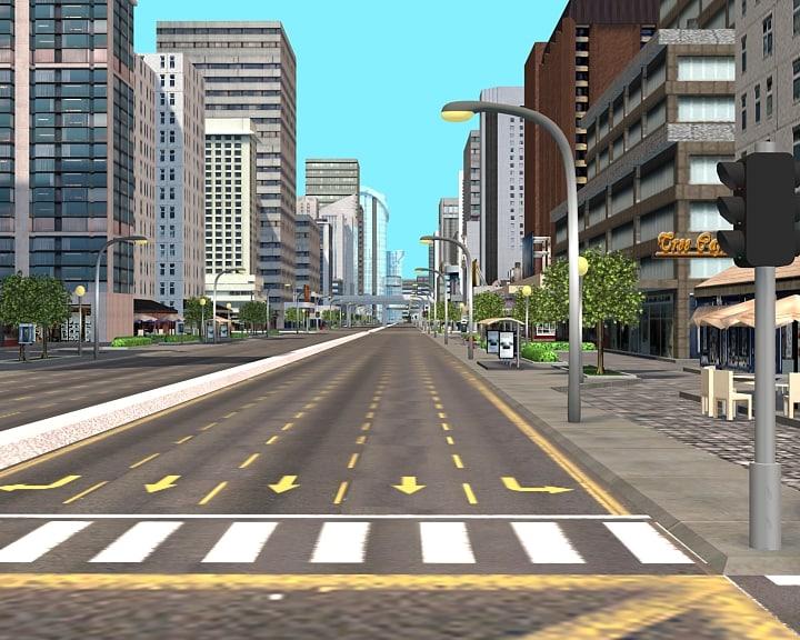 city street 3d max