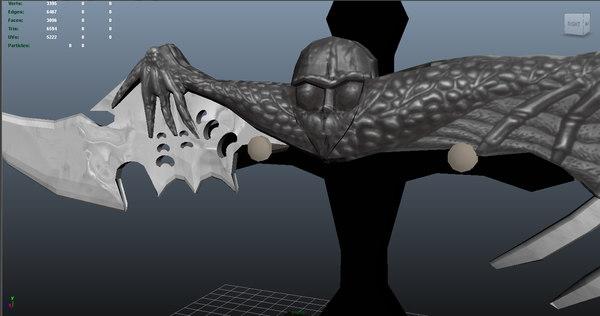 maya dagger blade weapons
