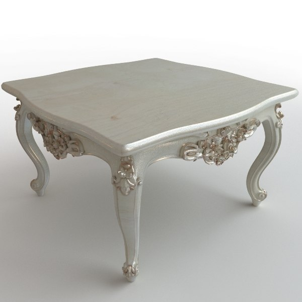 3d model table baroque