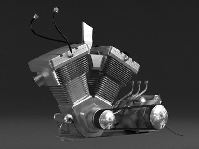 free engine motorcycle 3d model