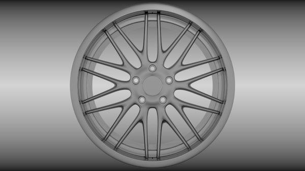 generic wheel 3d obj