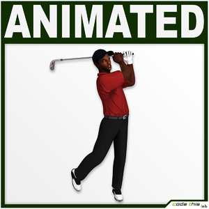 games golf bag player 3d model