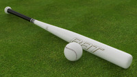 3d baseball ball model