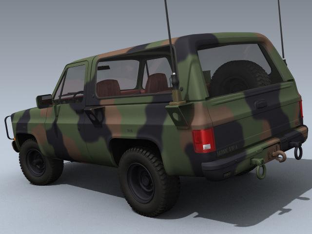 3d army m1009 cucv model