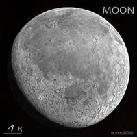 3d realistic moon model