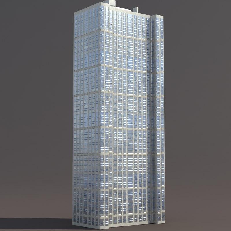 3d model high-rise building