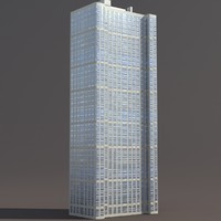 Skyscraper #6 Low Poly 3D Moswl