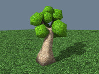 3d 3ds cartoon tree