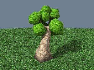 3d 3ds cartoon tree