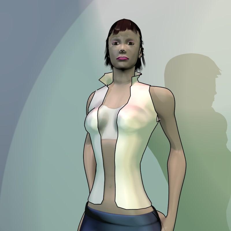 character cartoon rigged clothes