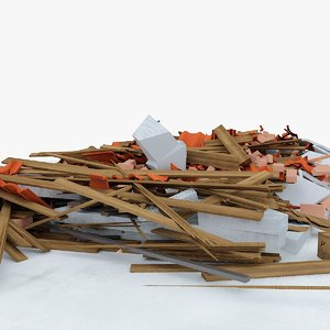 construction debris 5 3d x