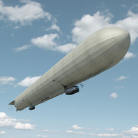zeppelin lz 21 3d model