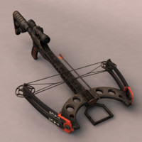 3d model crossbow bow