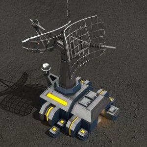 3dsmax communication center sci-fi building