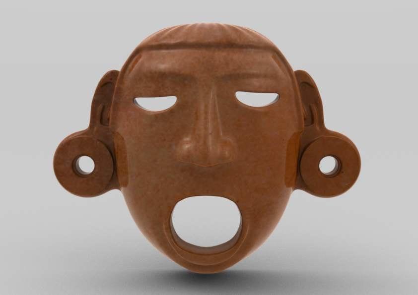 3ds max aztec mask xipe-totec