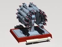 3d rbu-6000 smerch-2 model