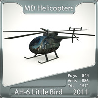 3d model of ah-6 little bird helicopter