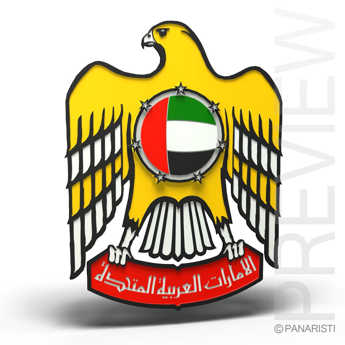 united arab emirates emblems 3d c4d