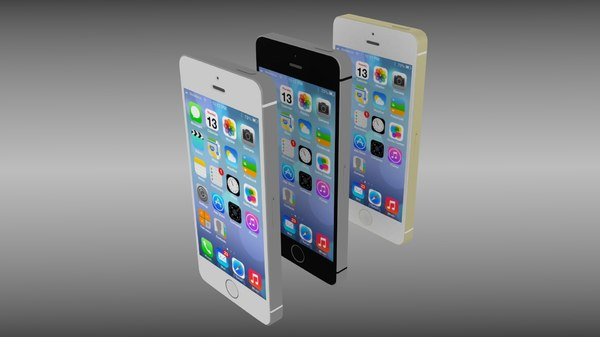 3d apple iphone 5s phones model