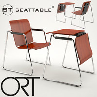 3d ort seattable chair table