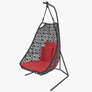 max single swing garden chair