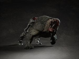 creature dog 3d model