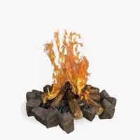 bonfire 3d max