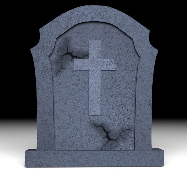 gravestone halloween 3d model