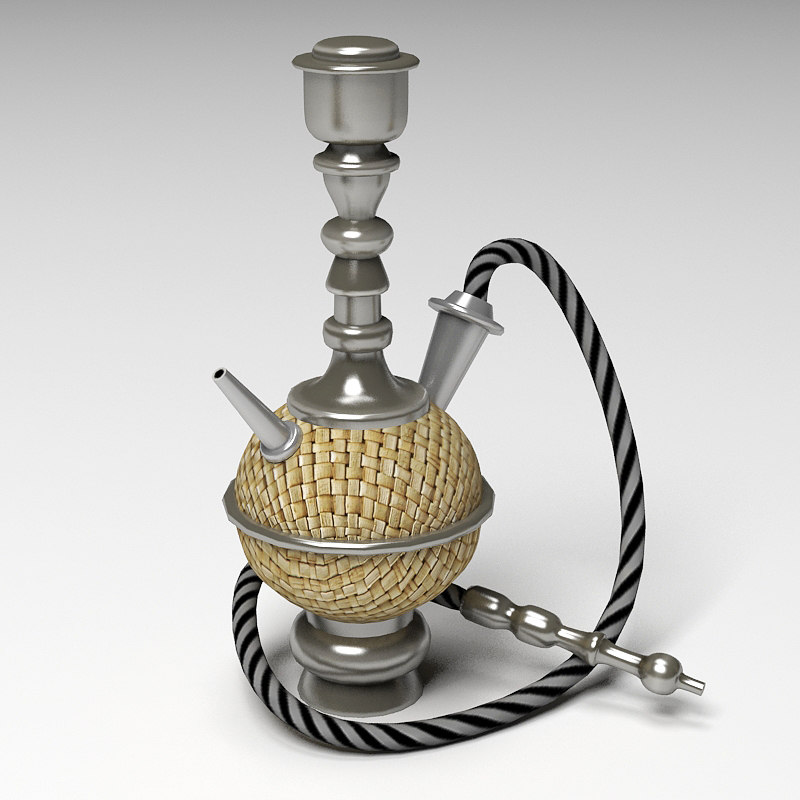 3d model of hookah