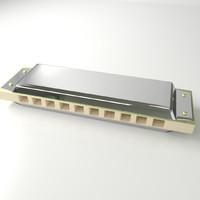 3dsmax harmonica