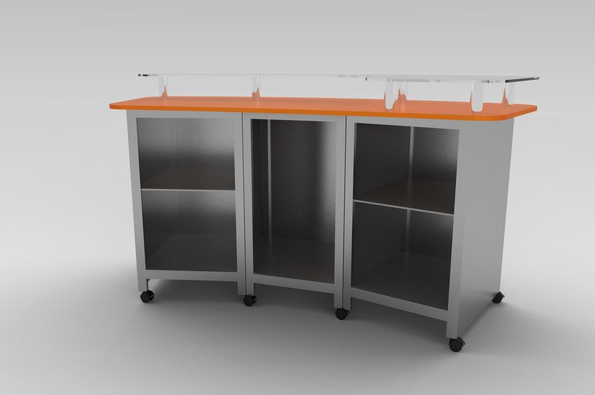 3d model desk