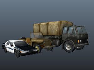 packages car 3d model
