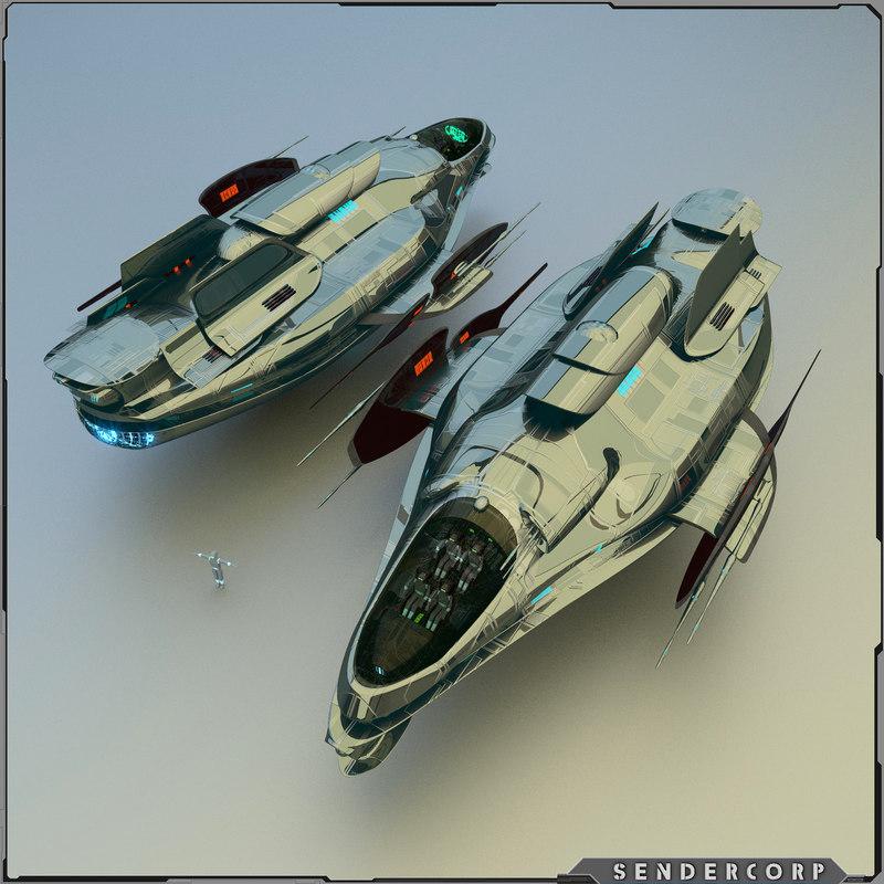 blender fast recon ship