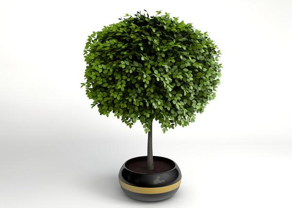 3ds max small decorative tree