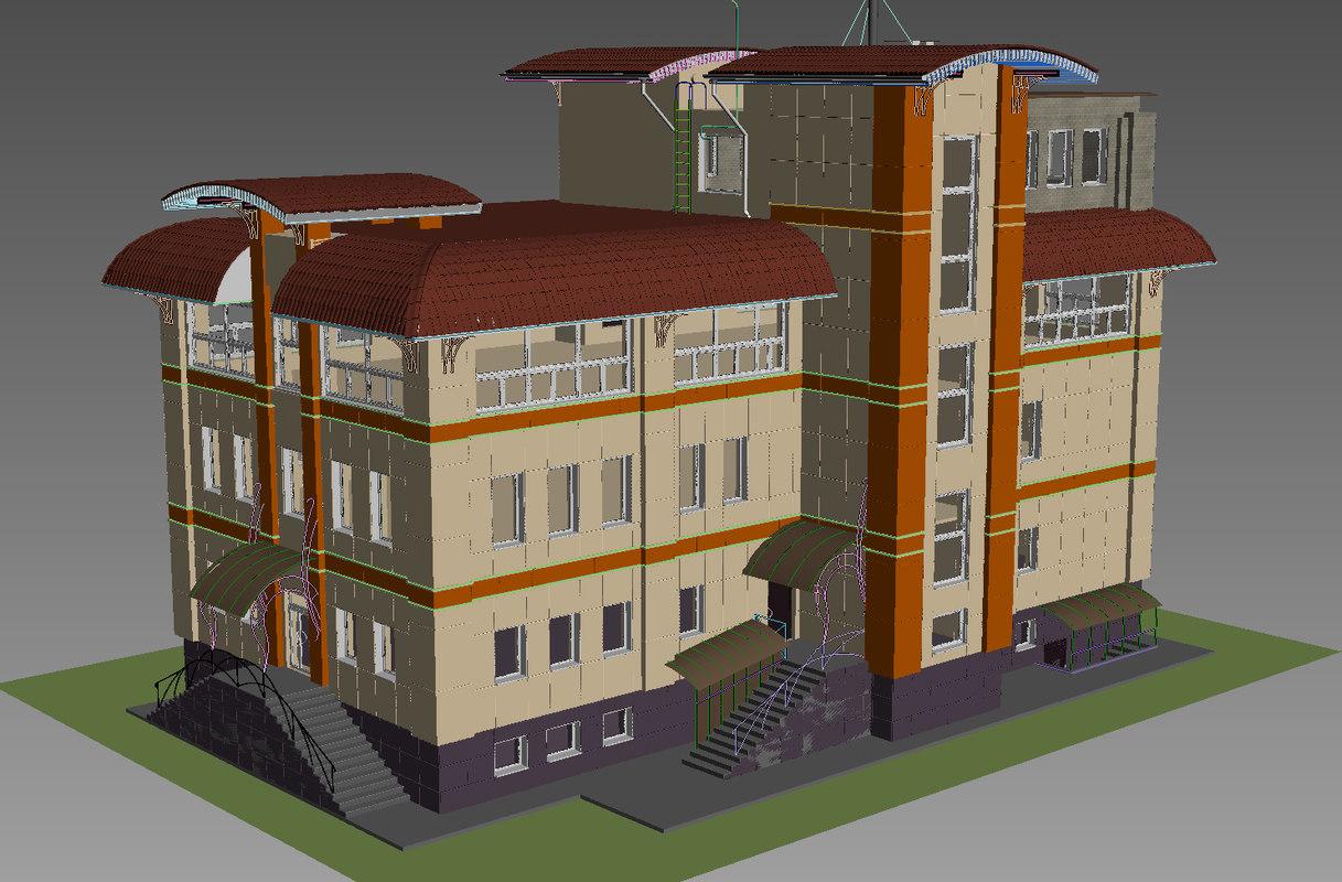 3ds max rainscreen cladding house