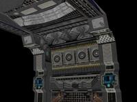 3ds max scifi room