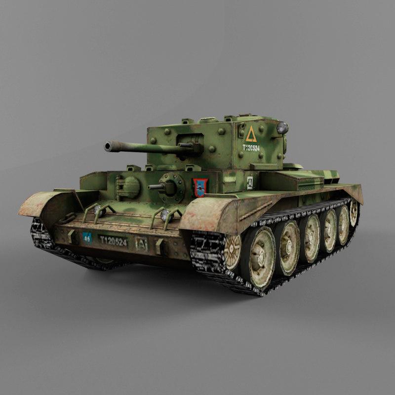 3d model of cromwell medium tank