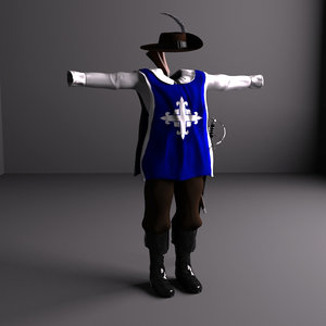 musketeer accessories 3d model