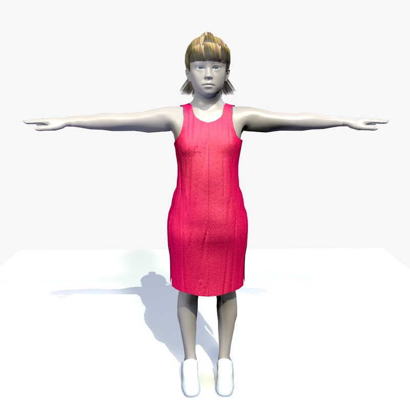 3d realistically female carol character body