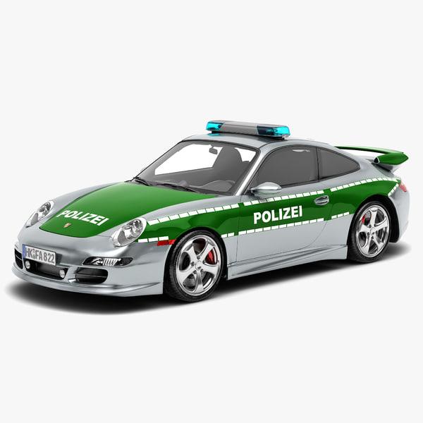 3d model porsche 911 sport vehicle car