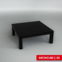 3d model black table