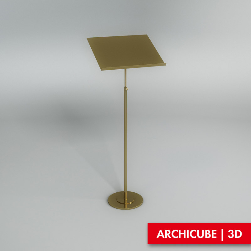 stand music 3d max