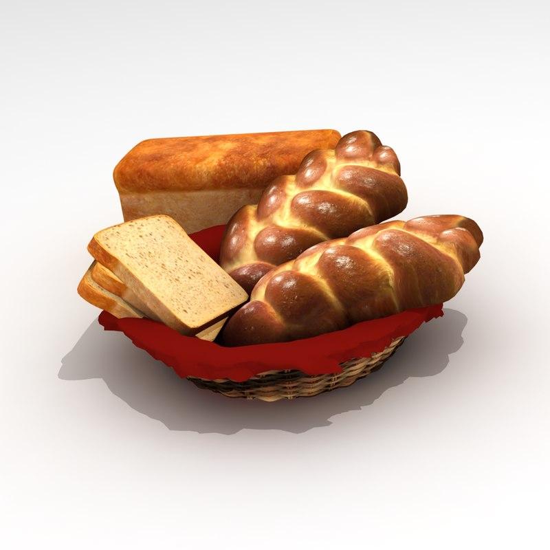 3d bread cake