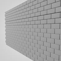 brick wall 3d c4d
