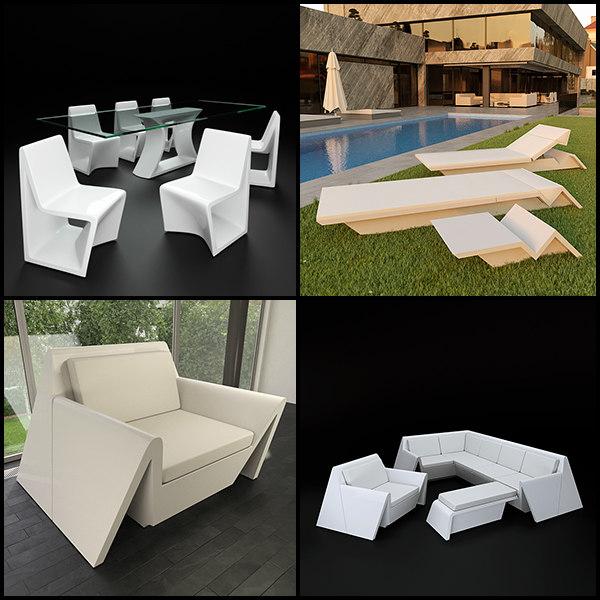 3d model rest outdoor furniture vondom