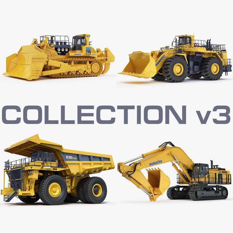 mining heavy d575 wa1200 3d max
