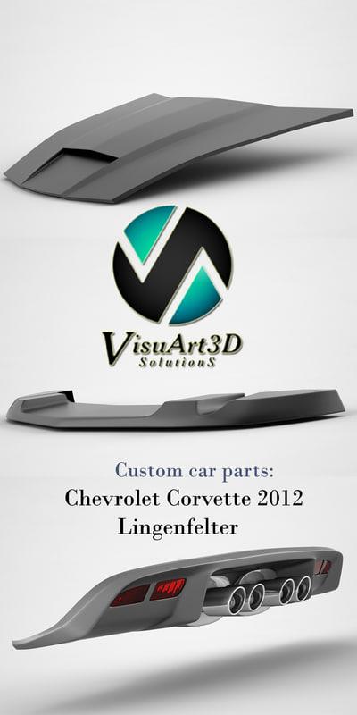 3d chevrolet corvette lingenfelter car parts