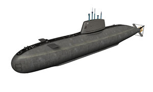 realistic ins dolphin class submarine c4d