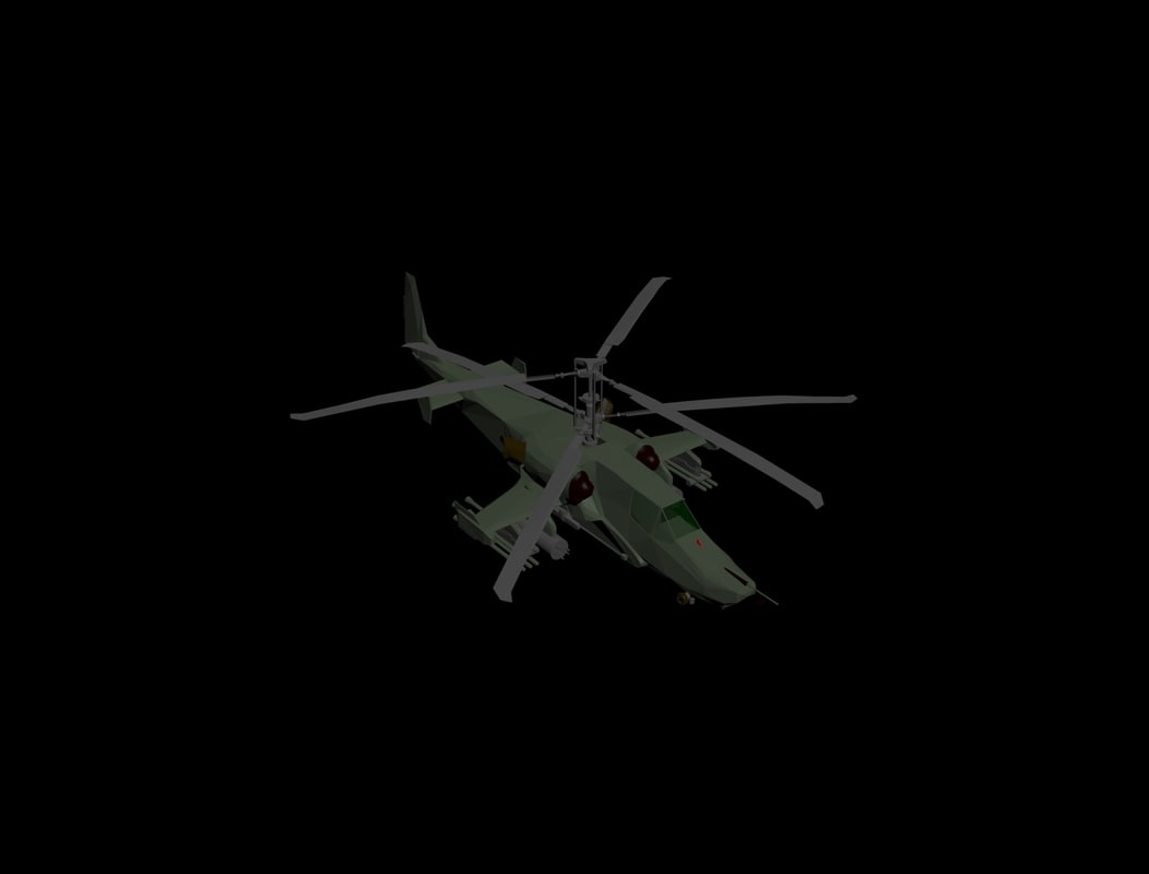 3d model awesome helicopter