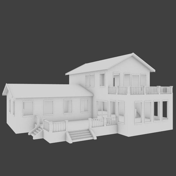 3d house exterior model